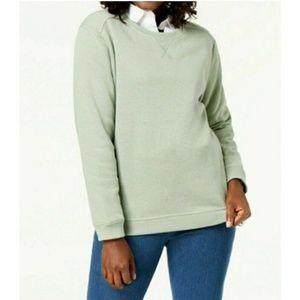 Karen Scott S Green Crew Neck Sweatshirt 4AC78